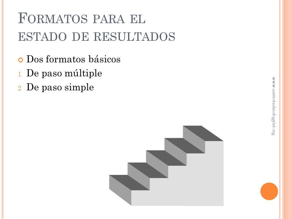 O BJETIVO 4 Preparación de estados financieros www.centrotechnologyint.org
