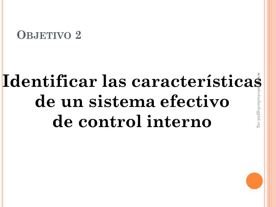 Controles de operación Controles en reportes financieros C ONTROL INTERNO www.centrotechnologyint.org