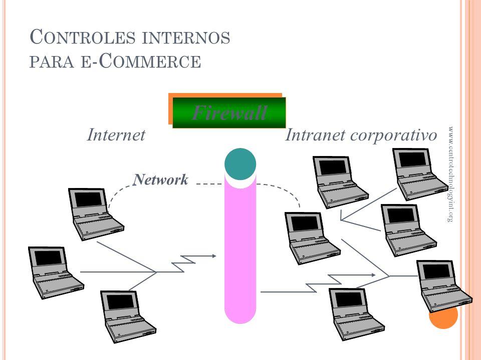 C ONTROLES INTERNOS PARA EL E -C OMMERCE ¿Qué es la encripción ? Es el método principal para obtener un control interno adecuado Los mensajes son modi
