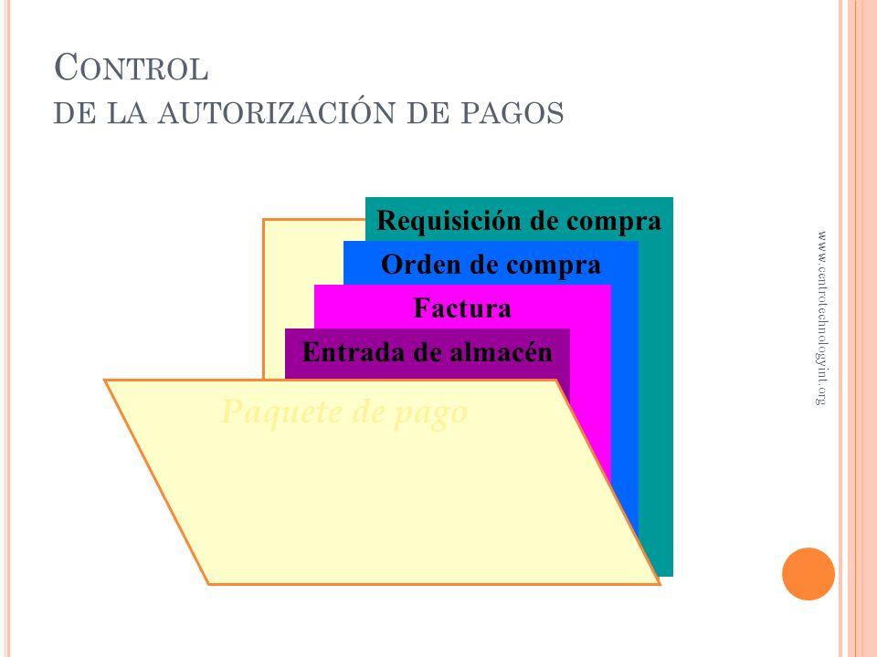 O BJETIVO 5 Controles internos para pagos en efectivo www.centrotechnologyint.org