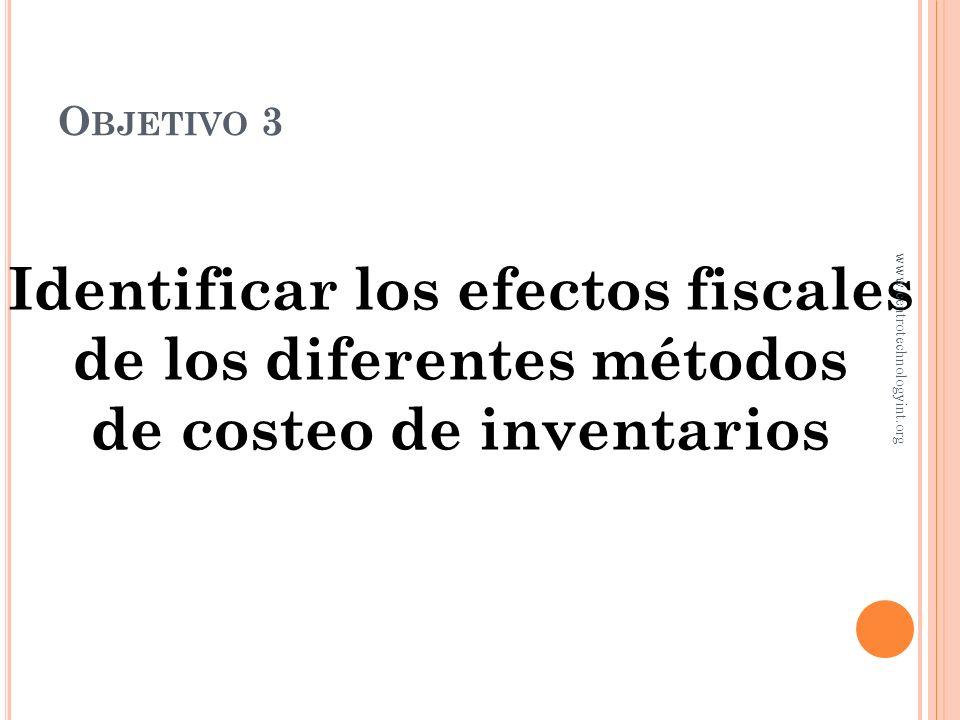 Cuando los precios aumentan, UEPS resulta en menor utilidad y menos impuestos C OMPARANDO LOS MÉTODOS Utilidad bruta: Costos específicos $1,035.00 PEP