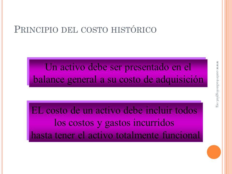 O BJETIVO 1 Costo de los activos fijos www.centrotechnologyint.org