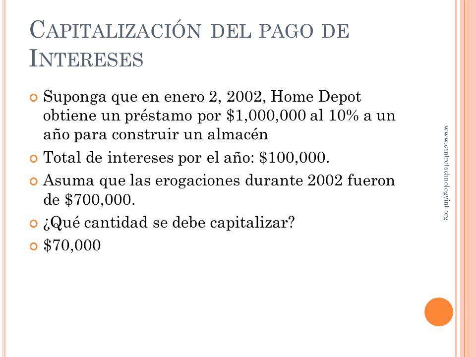 A RRENDAMIENTO DE CAPITAL ¿Qué es un arrendamiento de capital? Similares a compra a plazos Se reportan como activos, aunque la compañía no tenga la pr