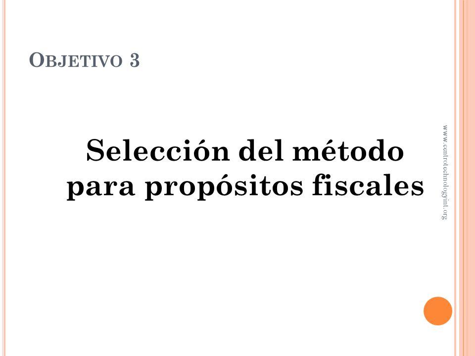 M ÉTODOS DE DEPRECIACIÓN C OMPARACIÓN www.centrotechnologyint.org