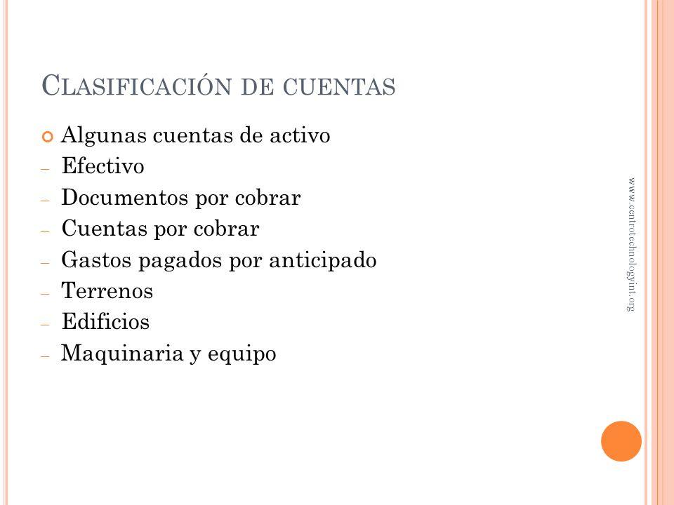 Efectivo Cuentas por pagar Capital de J. Guillén Mayor Todas las cuentas forman el libro Cuentas individuales de activo Cuentas individuales de pasivo