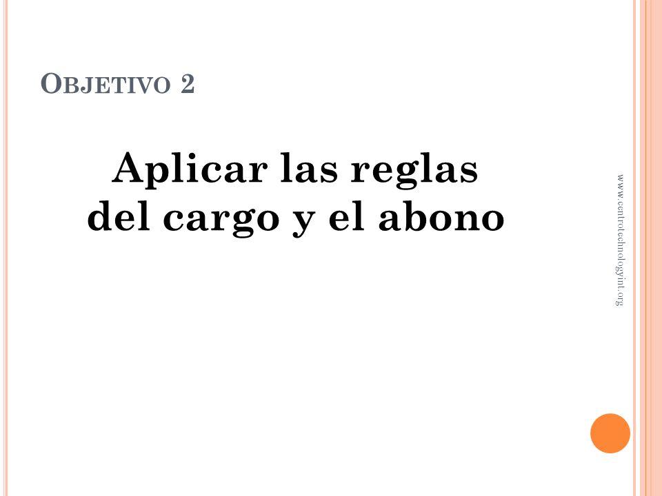 L A CUENTA T Nombre de la cuenta Cargos Abonos Lado derecho www.centrotechnologyint.org