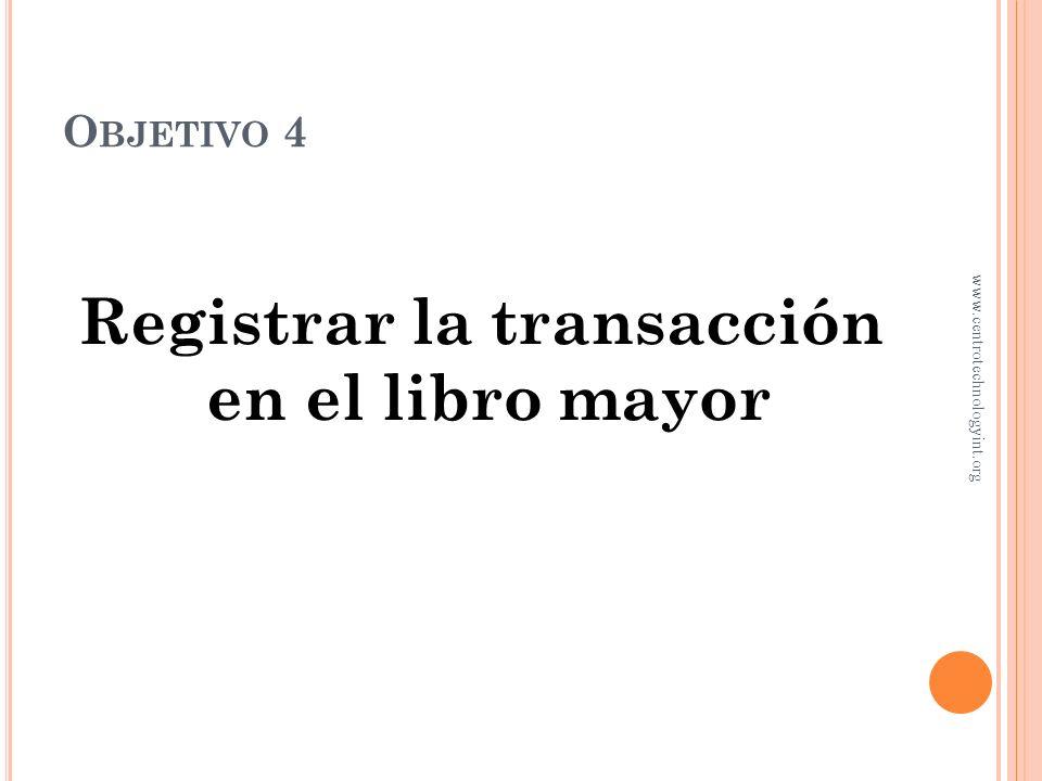 R EGISTRO DE TRANSACCIONES En abril 2, Jorge Guillén invirtió $30,000 en eViajes ¿Qué asiento de diario se utiliza? Abril 2 Efectivo30,000 Capital de