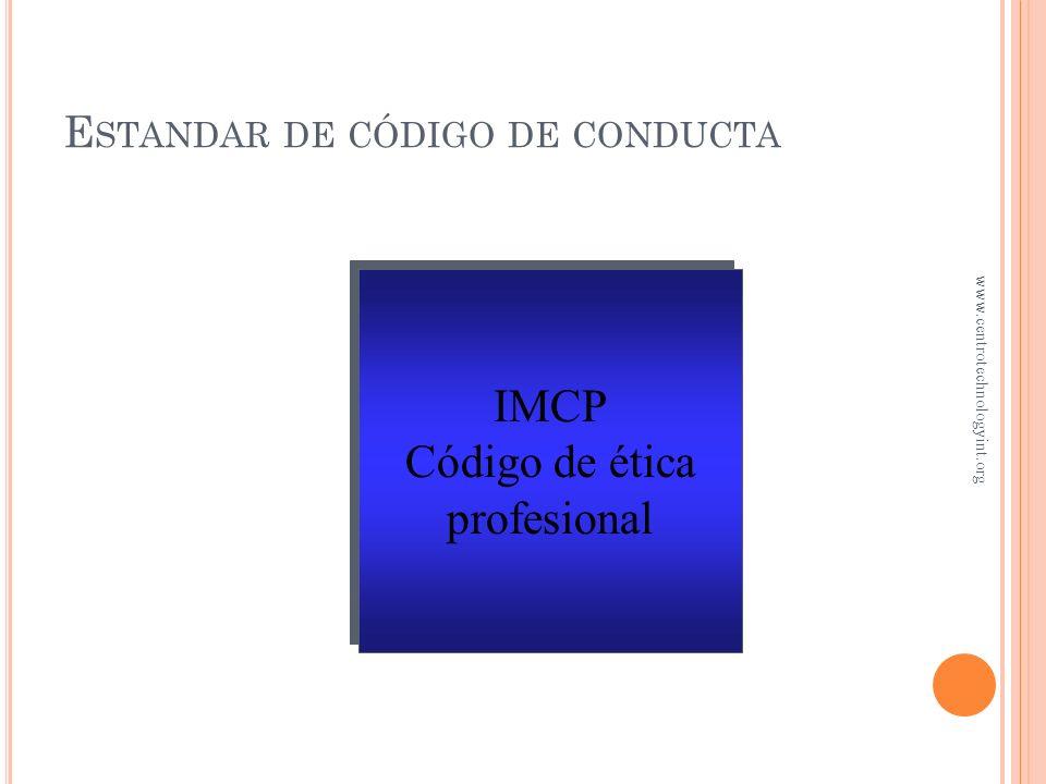 C ONTROL DE INVENTARIOS Capítulo 8 www.centrotechnologyint.org