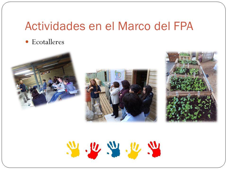 Actividades en el Marco del FPA Ecotalleres
