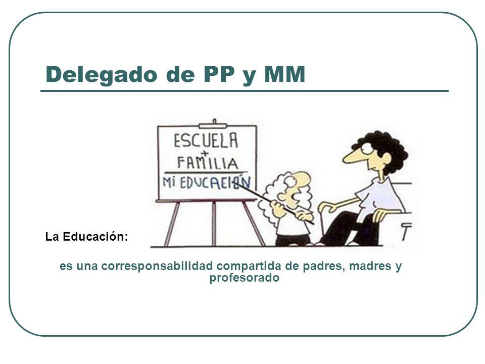 Delegado de PP y MM La Educación: es una corresponsabilidad compartida de padres, madres y profesorado