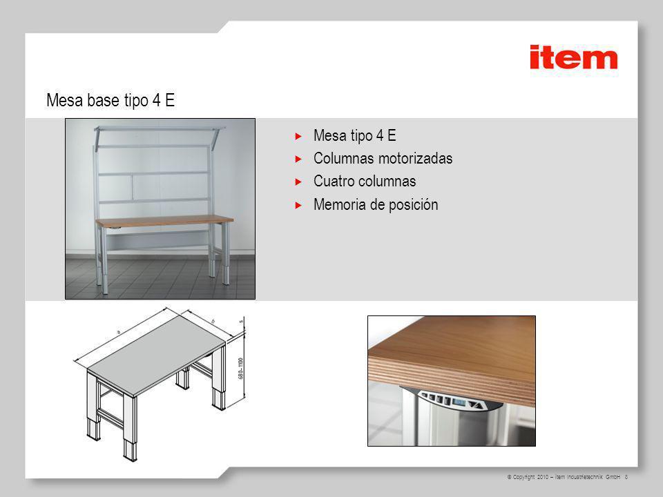 19 © Copyright 2010 – item Industrietechnik GmbH Gabinetes Para integrar gabinetes en las estaciones de trabajo Kit adaptador, Profundidad 600 Kit adaptador, Profundidad 750