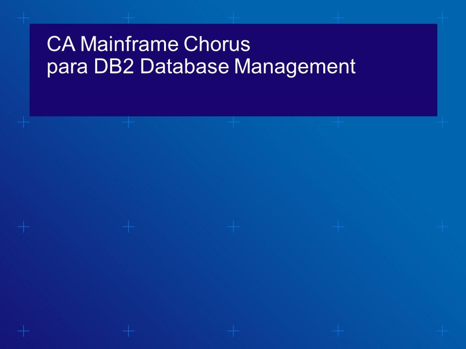 CA Mainframe Chorus para DB2 Database Management