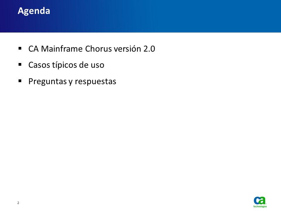 CA Mainframe Chorus versión 2.0