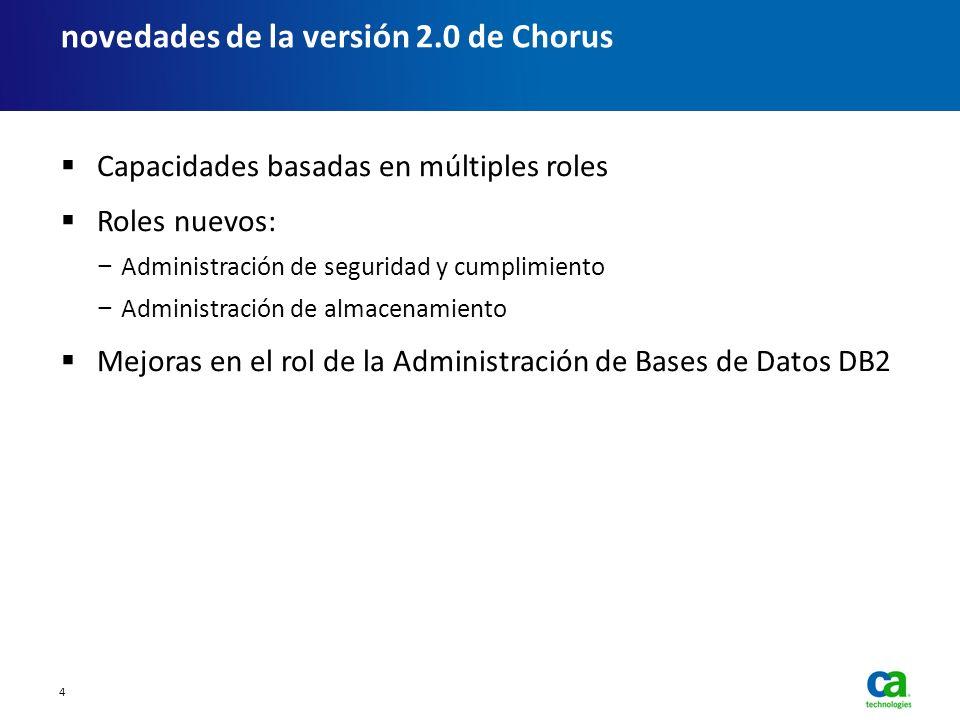 Capacidades basadas en múltiples roles Roles nuevos: Administración de seguridad y cumplimiento Administración de almacenamiento Mejoras en el rol de