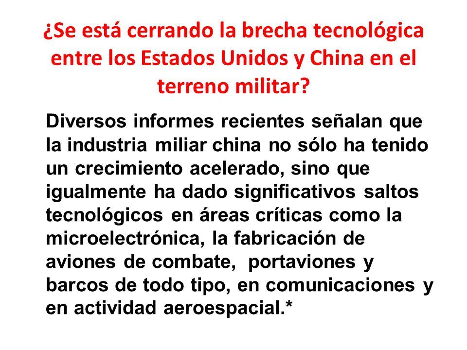 ¿Se está cerrando la brecha tecnológica entre los Estados Unidos y China en el terreno militar.