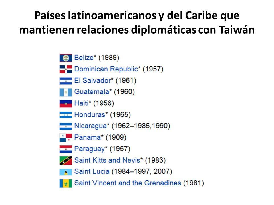Países latinoamericanos y del Caribe que mantienen relaciones diplomáticas con Taiwán