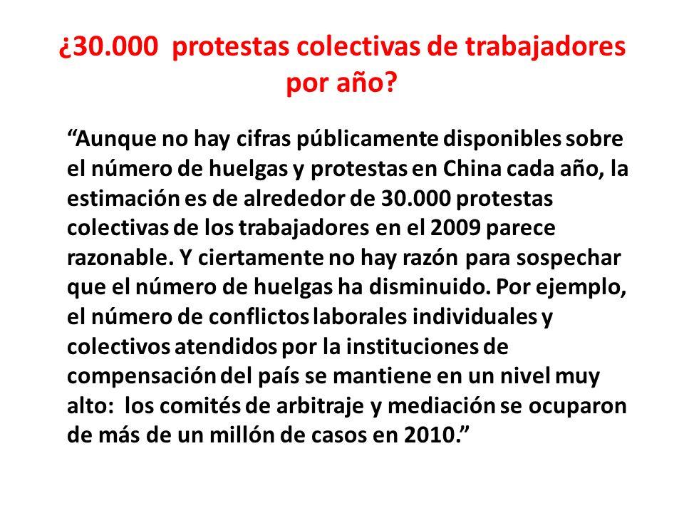¿30.000 protestas colectivas de trabajadores por año.