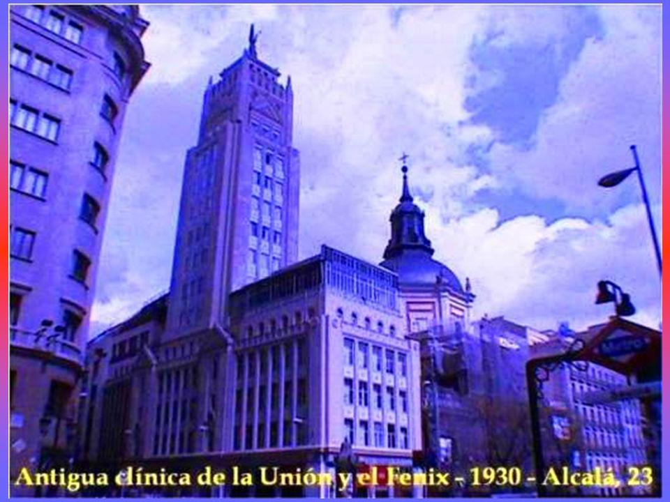 Antiguo edificio de Seguros LA ADRIATICA Arquitecto Luís Sainz de los Terreros Gómez Gran Vía, 39 junto Pl.