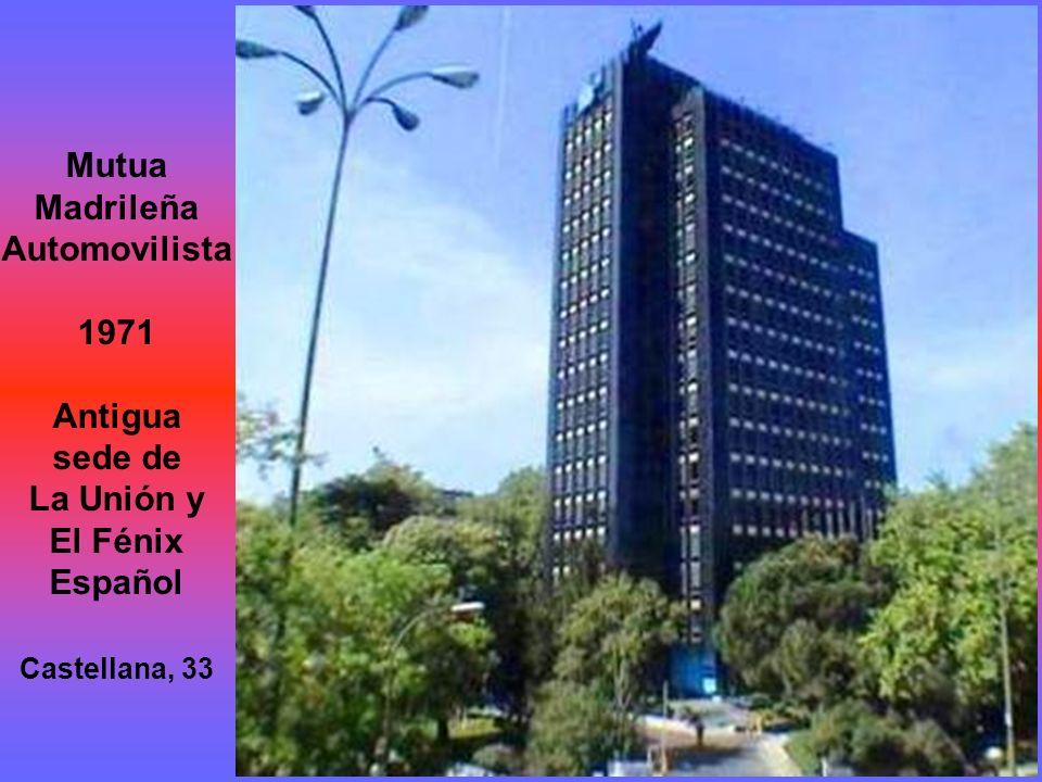 Edificio de Seguros Vitalicio 1935 Diseñado por Eusebio Bona Puig y construido por Luis Mosteiro Canas Alcalá, 21