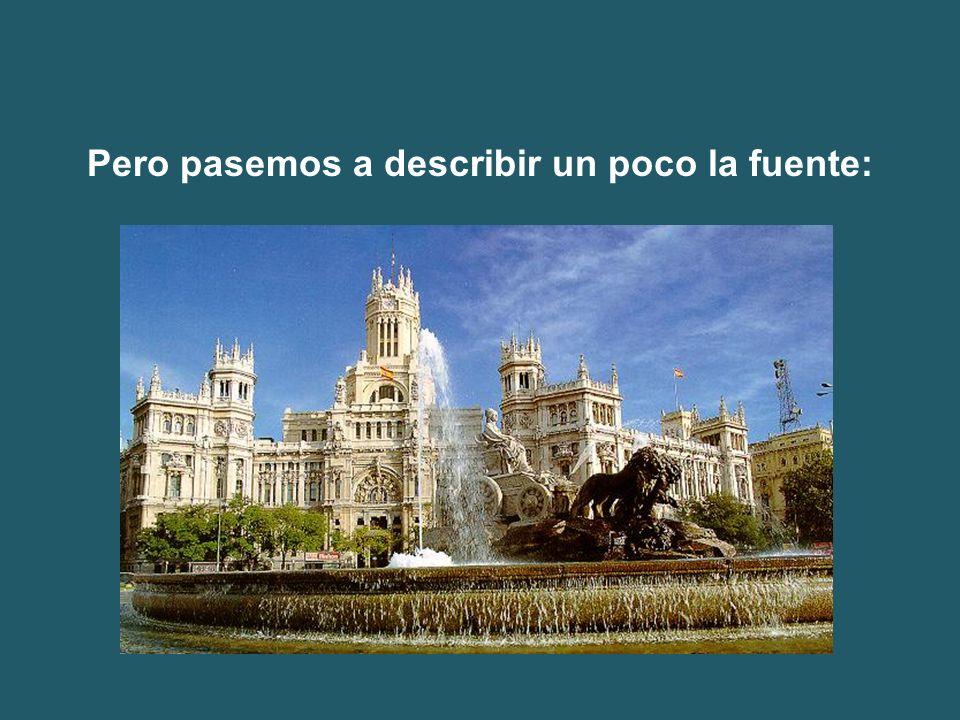 La imagen muestra la actual posición de la fuente. Se observa ya la existencia del Banco de España