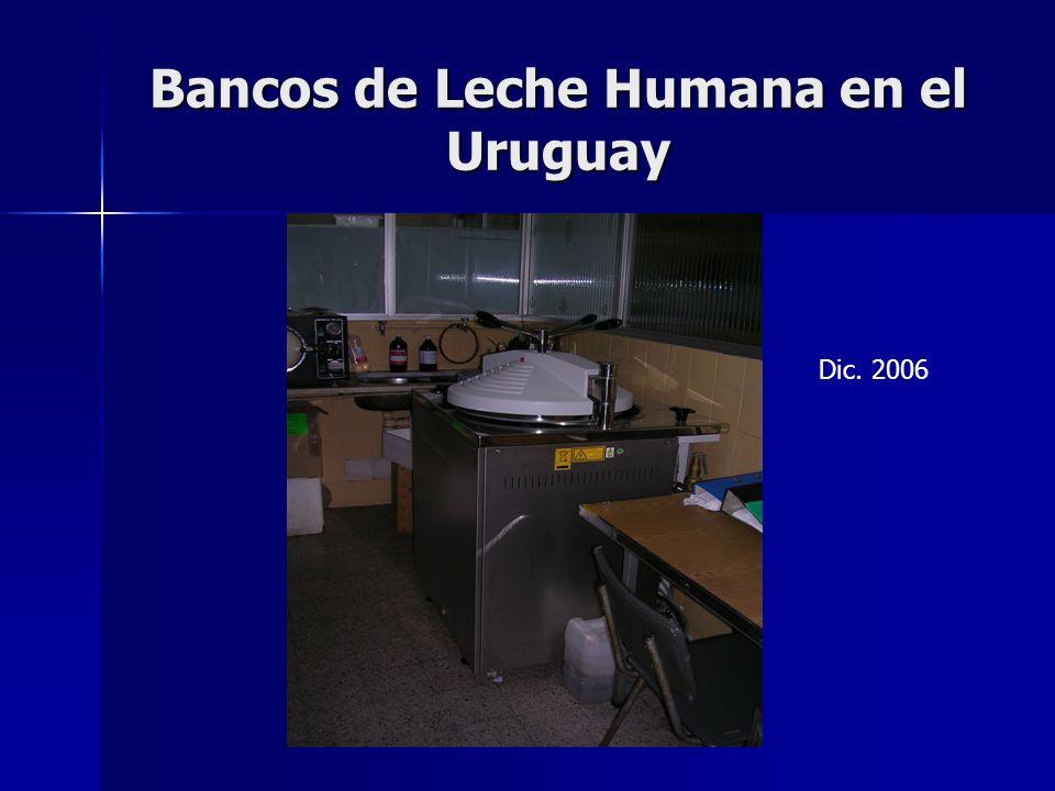 Bancos de Leche Humana en el Uruguay Dic. 2006