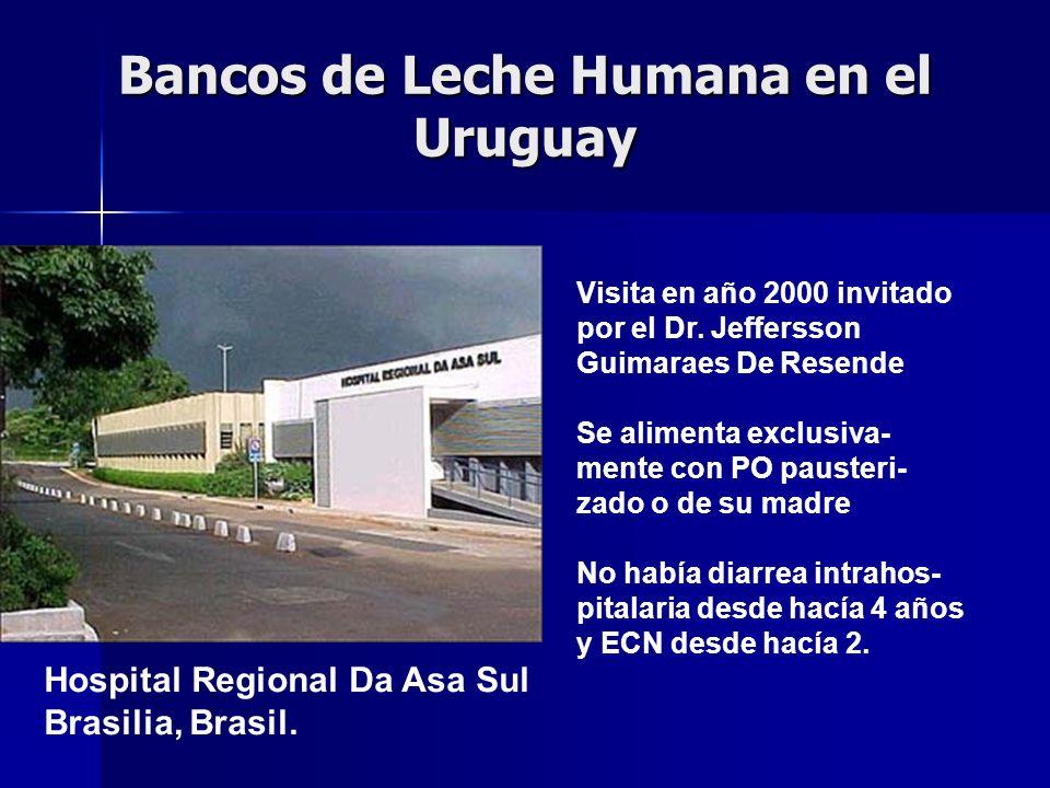 Bancos de Leche Humana en el Uruguay Visita en año 2000 invitado por el Dr.