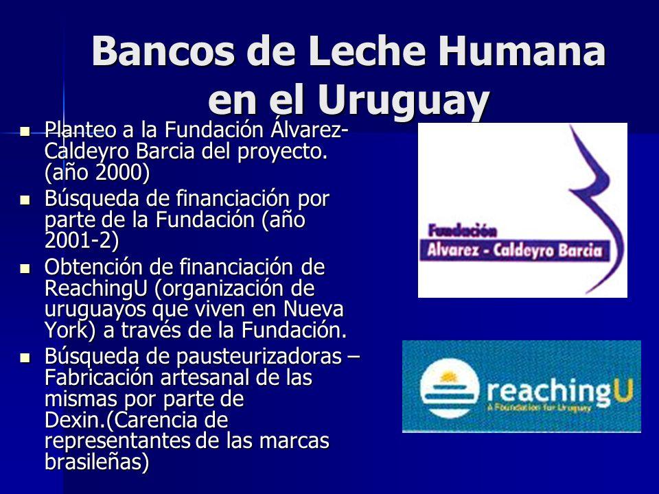 Bancos de Leche Humana en el Uruguay Inauguración Comienza a funcionar en diciembre de 2003
