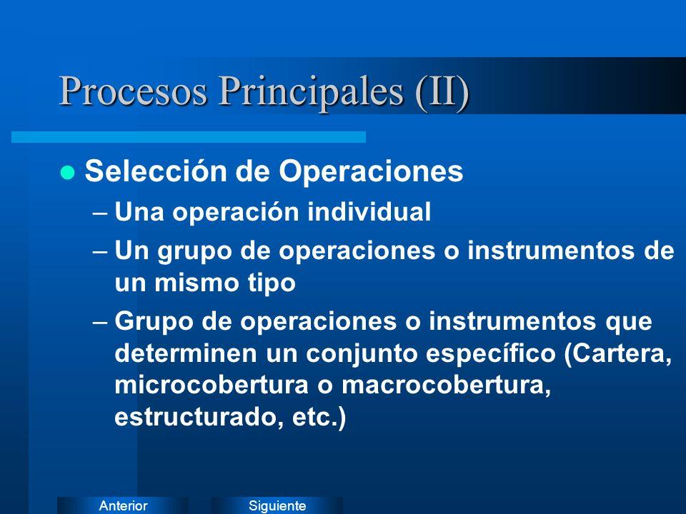 SiguienteAnterior Procesos Principales (I)