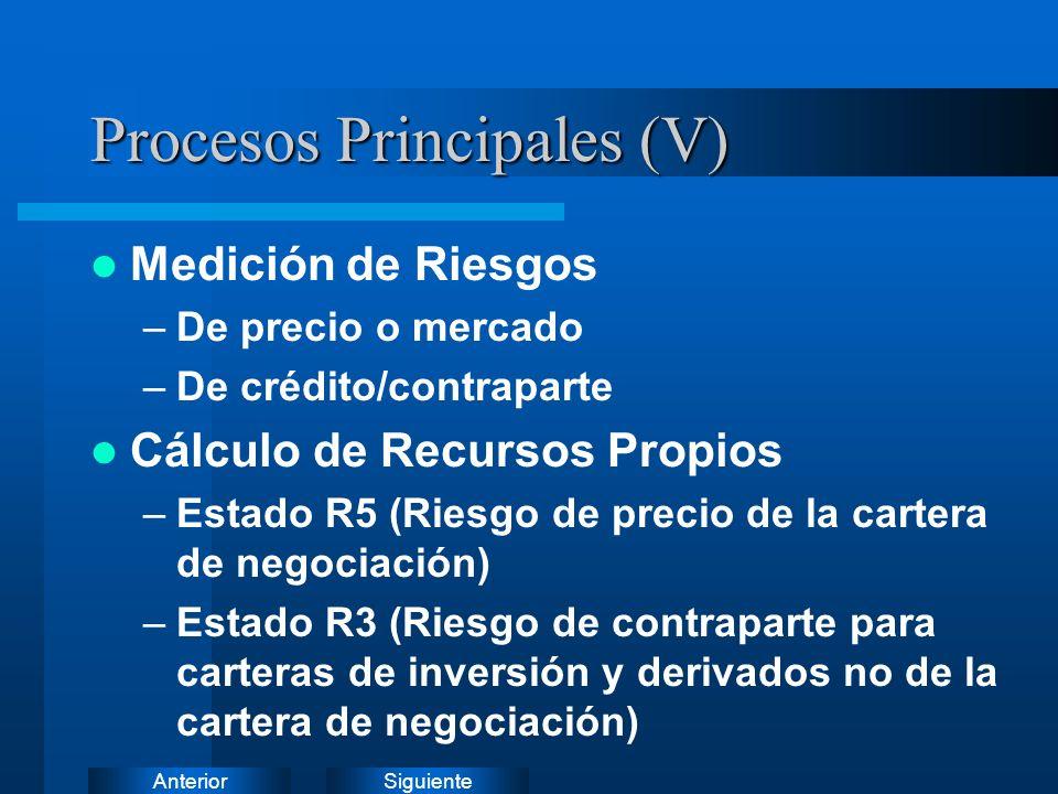 SiguienteAnterior Procesos Principales (IV)