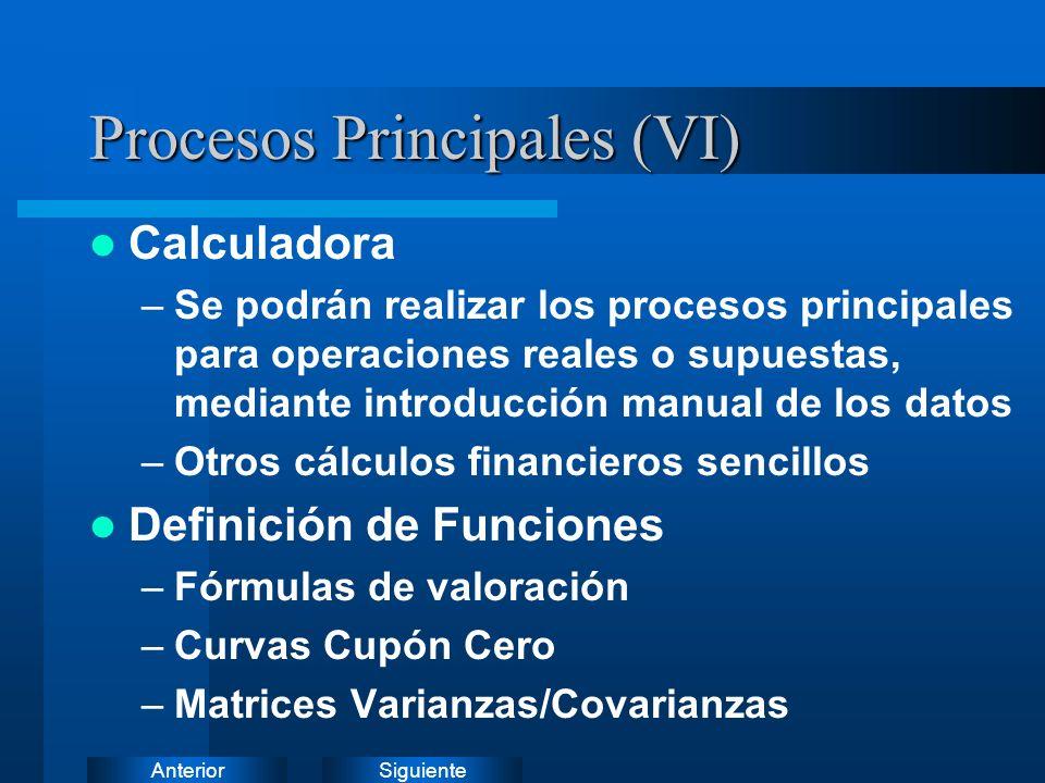 SiguienteAnterior Procesos Principales (V)