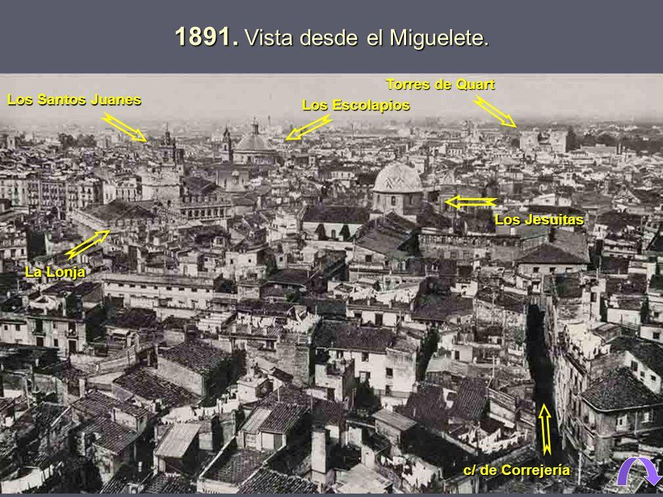 1891.Vista desde el Miguelete.