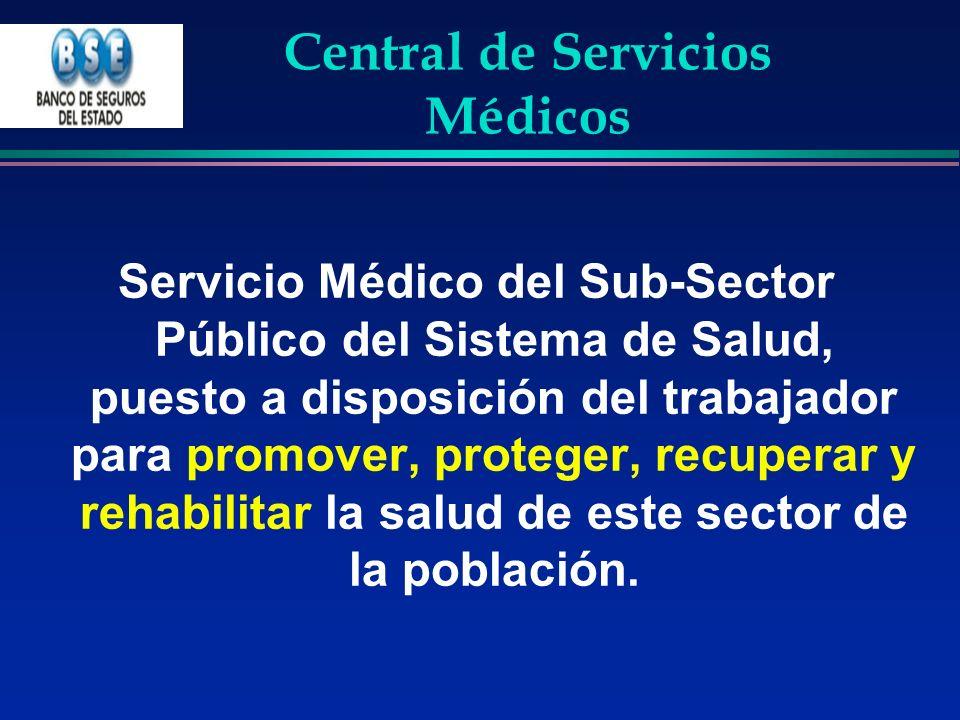 Central de Servicios Médicos Servicio Médico del Sub-Sector Público del Sistema de Salud, puesto a disposición del trabajador para promover, proteger,