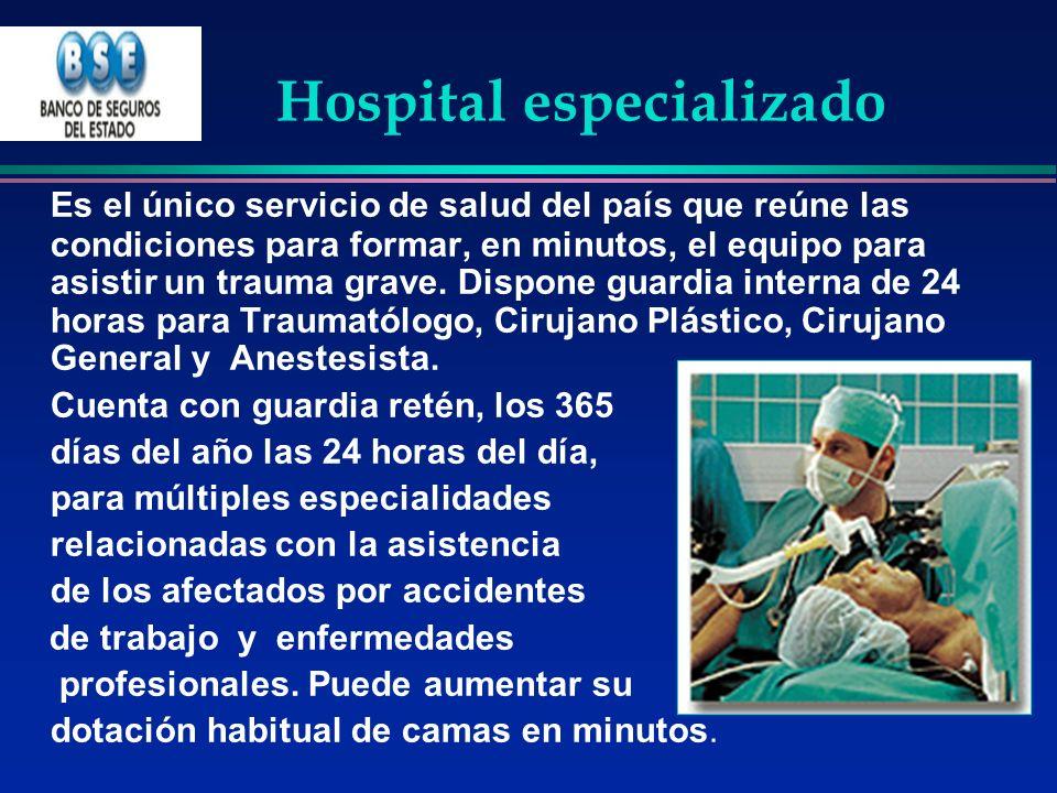 Hospital especializado Es el único servicio de salud del país que reúne las condiciones para formar, en minutos, el equipo para asistir un trauma grav