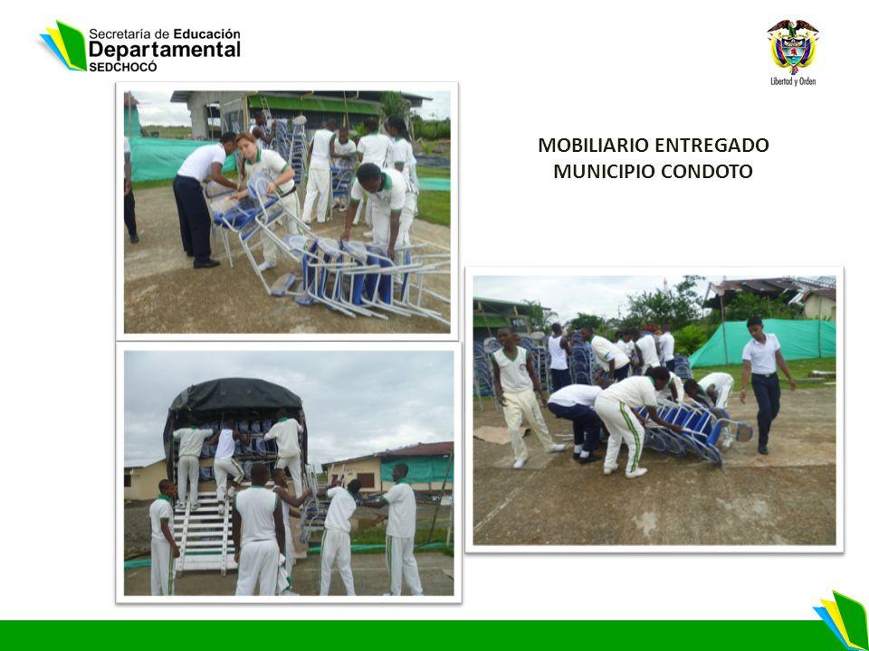 MOBILIARIO ENTREGADO MUNICIPIO CONDOTO