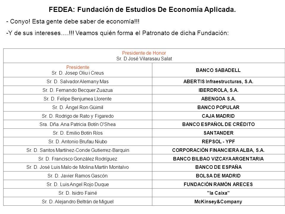 FEDEA: Fundación de Estudios De Economía Aplicada.