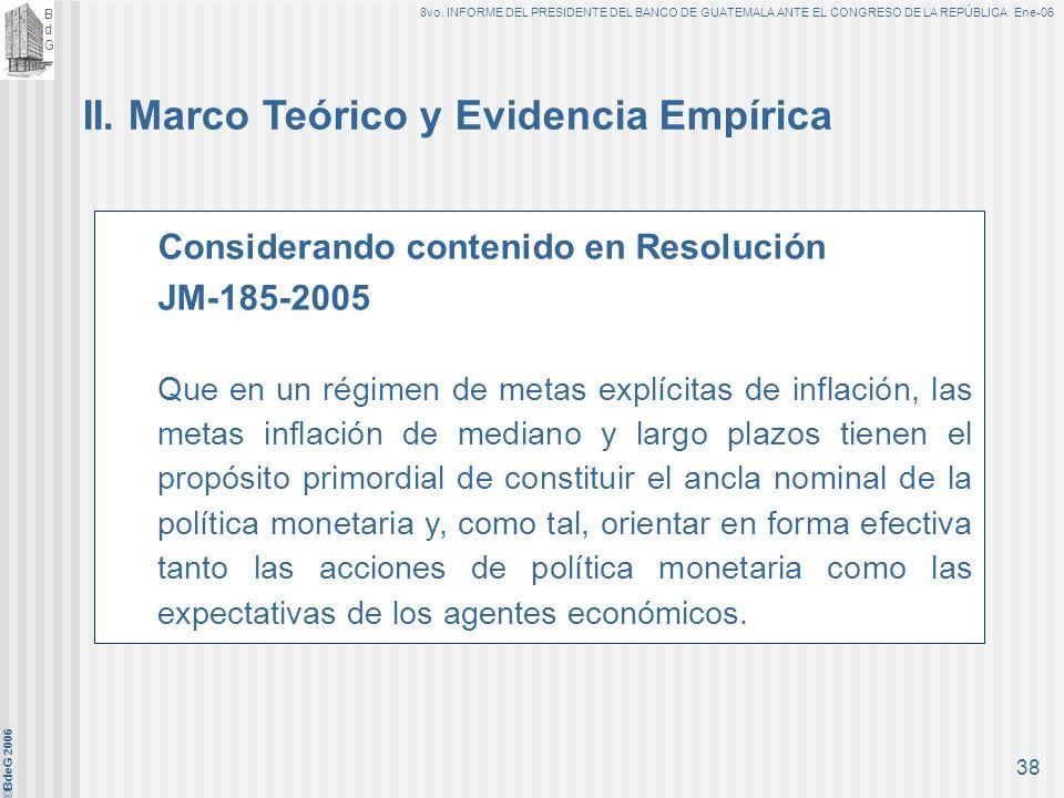BdGBdG 8vo. INFORME DEL PRESIDENTE DEL BANCO DE GUATEMALA ANTE EL CONGRESO DE LA REPÚBLICA Ene-06 ©BdeG 2006 37 I. Perspectivas para 2006 5.Demanda de