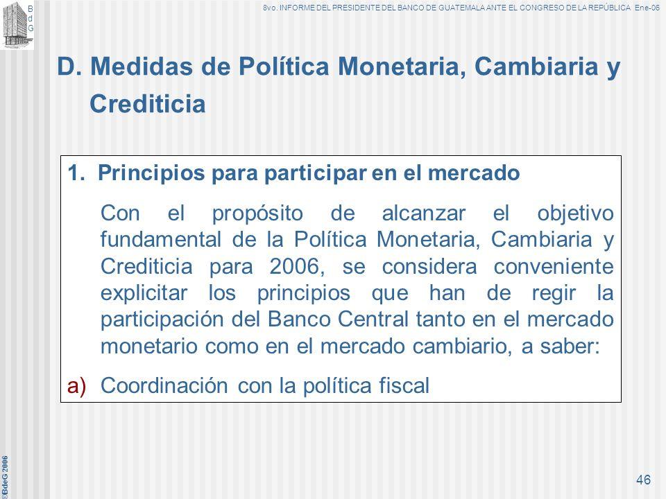 BdGBdG 8vo. INFORME DEL PRESIDENTE DEL BANCO DE GUATEMALA ANTE EL CONGRESO DE LA REPÚBLICA Ene-06 ©BdeG 2006 45 4.Medios de Pago (13% - 15%) 5.Crédito