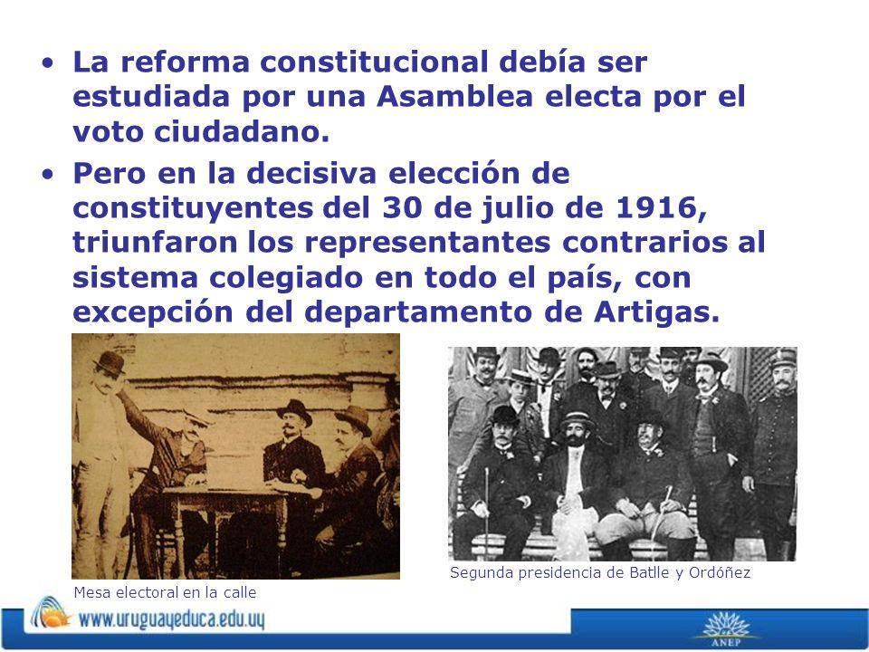 La reforma constitucional debía ser estudiada por una Asamblea electa por el voto ciudadano. Pero en la decisiva elección de constituyentes del 30 de