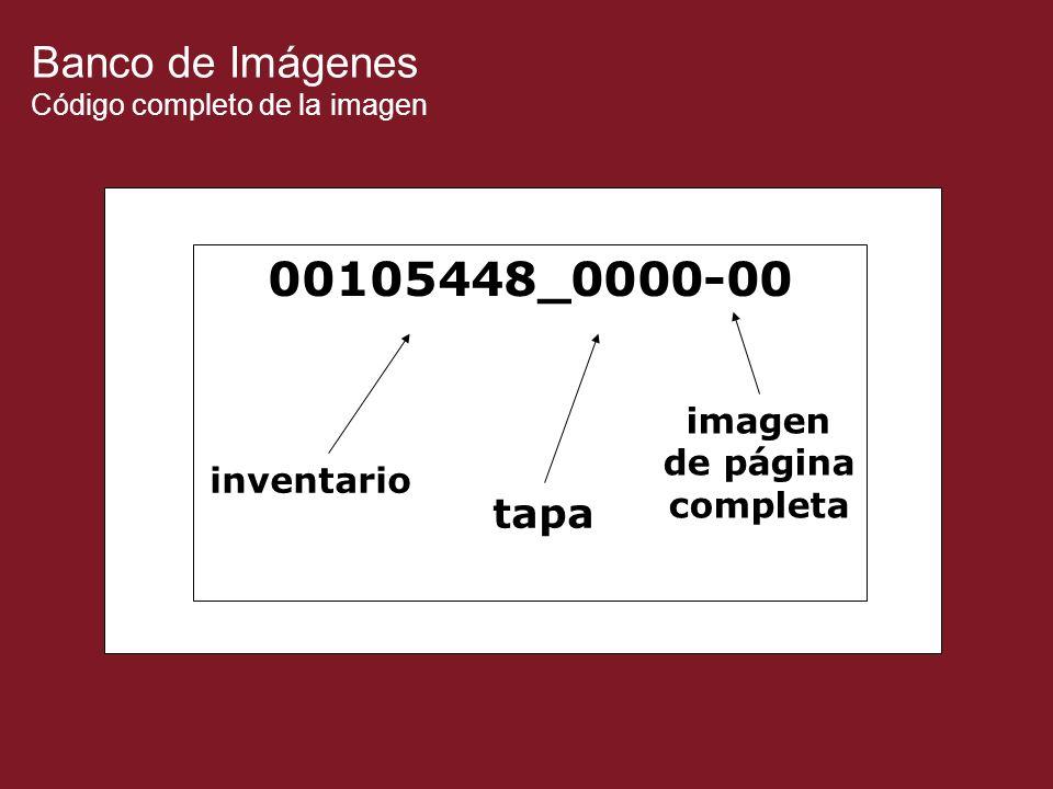 Banco de Imágenes Código completo de la imagen 00105448_0000-00 inventario tapa imagen de página completa