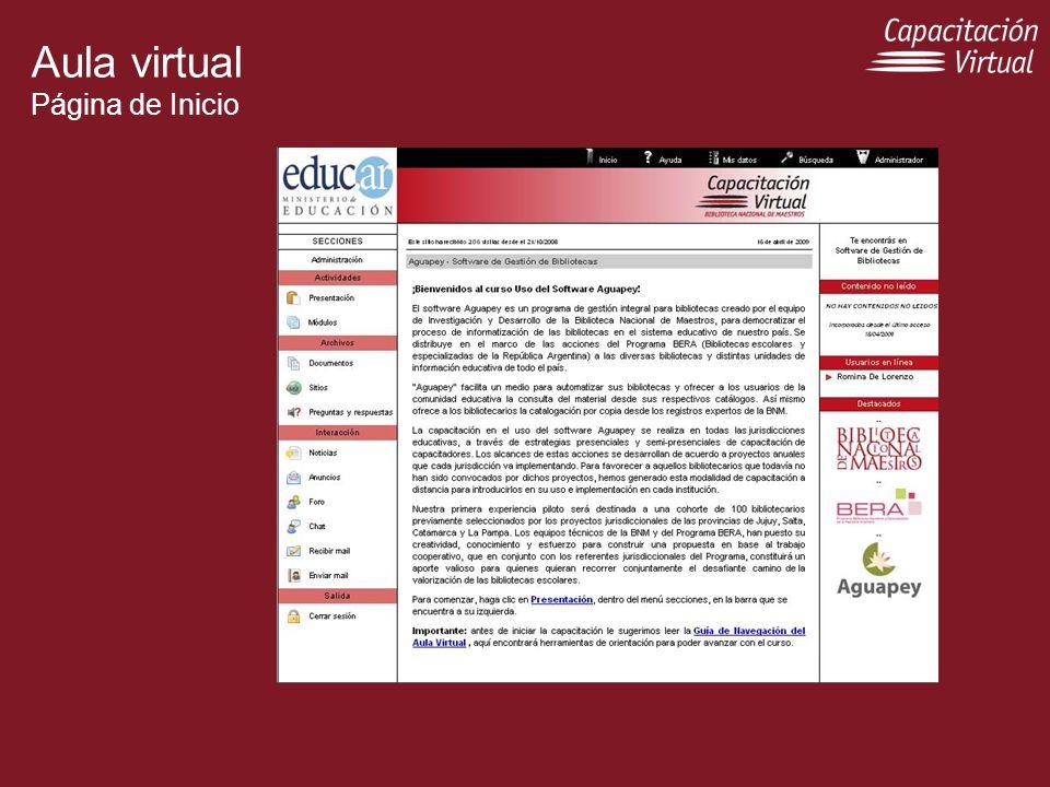 Aula virtual Página de Inicio