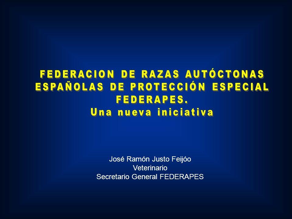 José Ramón Justo Feijóo Veterinario Secretario General FEDERAPES