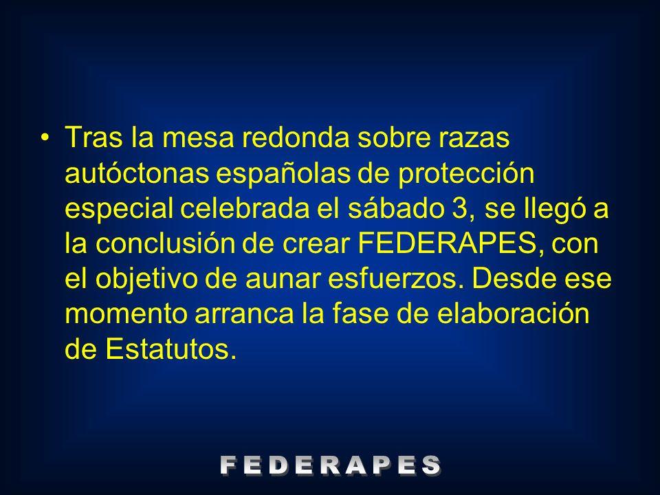 Tras la mesa redonda sobre razas autóctonas españolas de protección especial celebrada el sábado 3, se llegó a la conclusión de crear FEDERAPES, con e