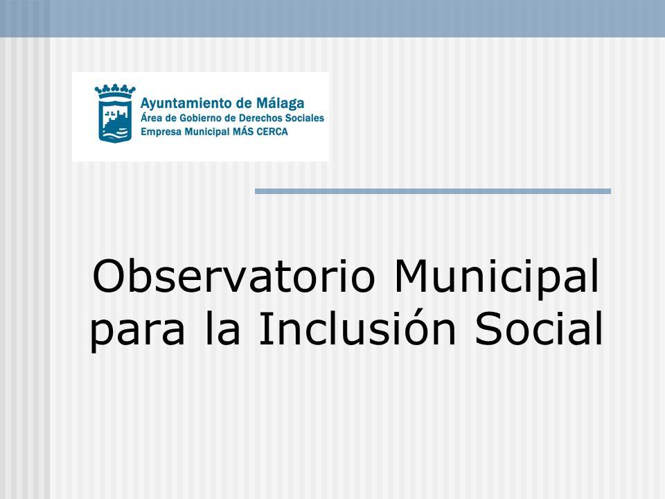 Enero 2012 Área de Derechos Sociales - Empresa Municipal Más Cerca 2 Definición Herramienta operativa para conocer la realidad social de Málaga en general y de las personas usuarias del Sistema Público de Servicios Sociales en particular.
