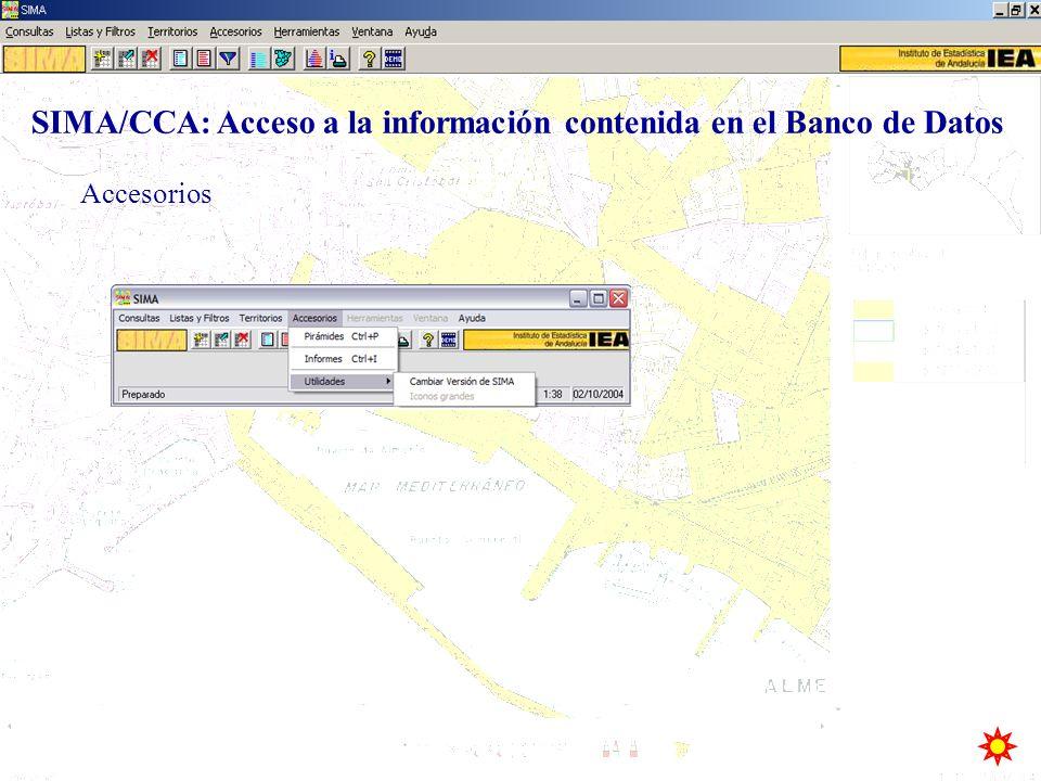 Accesorios SIMA/CCA: Acceso a la información contenida en el Banco de Datos