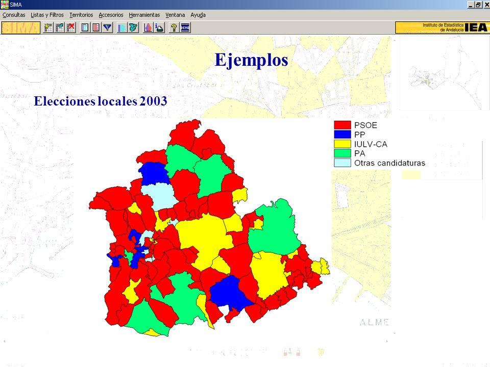 Ejemplos Elecciones locales 2003