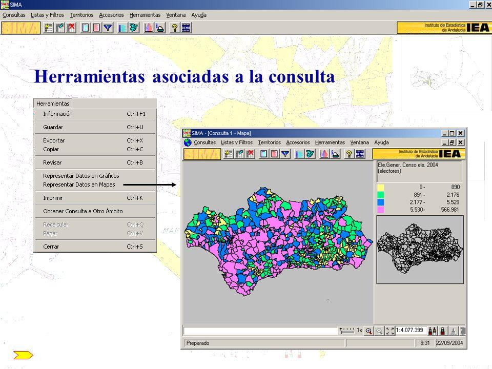 Uso de SIMA para la elaboración de mapas con datos externos SIMA/CCA: Acceso a la información contenida en el Banco de Datos 4.