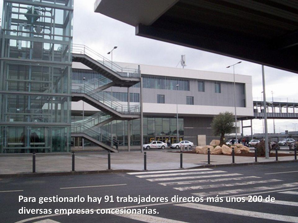 Las instalaciones están dimensionadas para acoger un volumen de dos millones y medio de pasajeros al año.