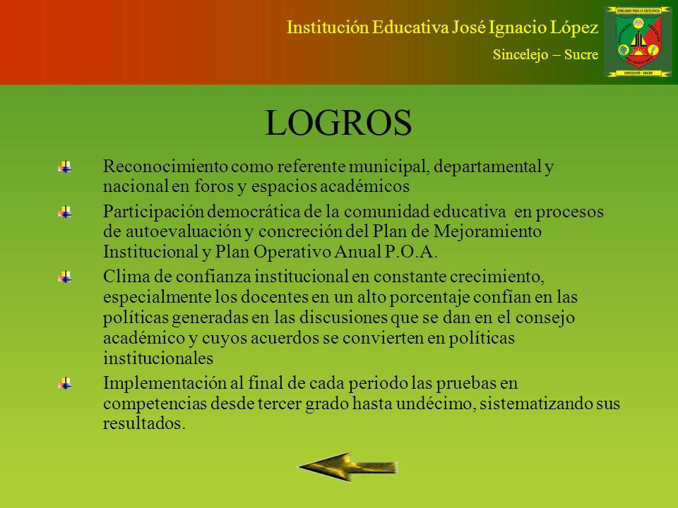 PLAN PADRINO Institución Educativa José Ignacio López Sincelejo – Sucre