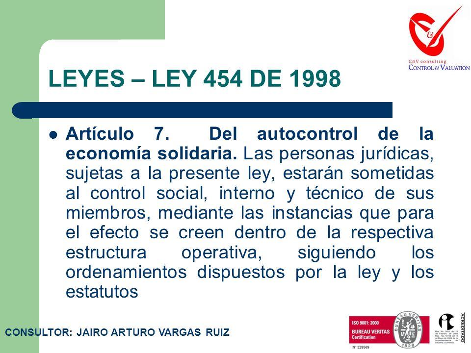 LEYES – LEY 454 DE 1998 Artículo 5. Fines de la economía solidaria. La Economía solidaria tiene como fines principales:1. Promover el desarrollo integ