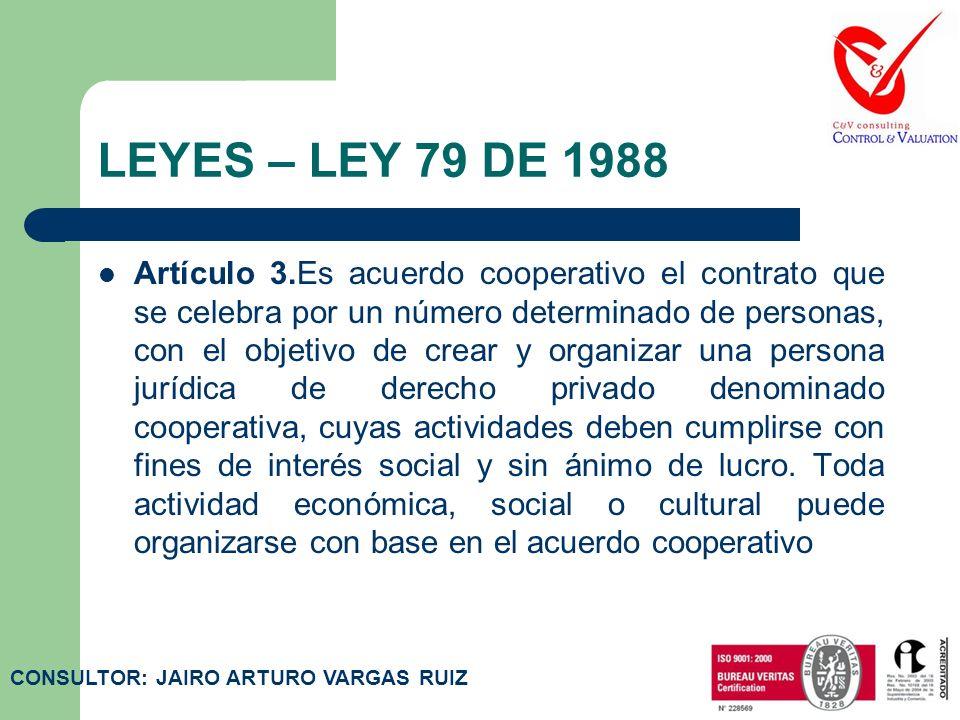 LEYES – LEY 79 DE 1988 Artículo 2.Declárese de interés común la promoción, la protección y el ejercicio del cooperativismo como un sistema eficaz para